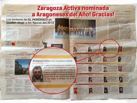 Zaragoza Activa Nominada!