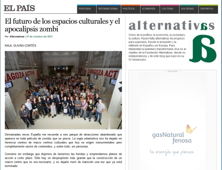Recorte El Pais - Alternativas